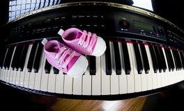Piano Practice Stock Photo