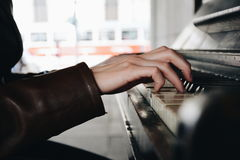 Piano in Prague Royalty Free Stock Images