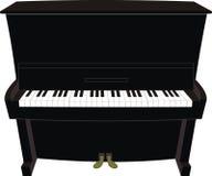 Piano preto dos desenhos animados Fotografia de Stock Royalty Free