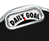 Piano quotidiano di dieta di perdita di peso della scala di scopo Immagine Stock Libera da Diritti