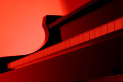 Piano in red Stock Photos