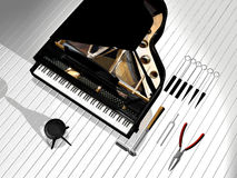 Piano repair business card Royalty Free Stock Photography