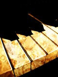 Piano retro Imagem de Stock Royalty Free