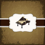 Piano with retro grungy pattern, Stock Image