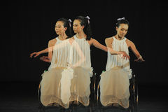 Piano rhythm-Dance musical. In May 22nd, the French original dance musical red line at the Jiangxi Art Center held. Chinese youth dance actor Liu Yan as the Stock Photography