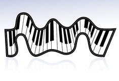 Piano ribbon Stock Photos
