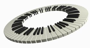 Piano ring. 3D isolated abstract piano ring Royalty Free Stock Photography