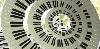 Piano rings Stock Image