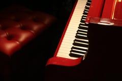 Piano rojo Imágenes de archivo libres de regalías