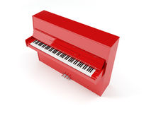 Piano rojo Fotos de archivo