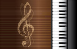 Piano roll. On abstract background Royalty Free Stock Photos