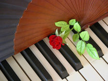 Piano romantique Photo libre de droits