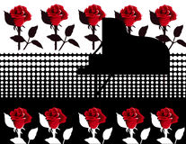 Piano with Roses Royalty Free Stock Photo