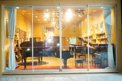 Piano sales shop in Shenzhen Music Hall Stock Image
