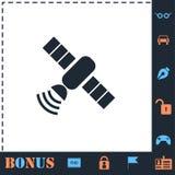 Piano satellite dell'icona illustrazione di stock