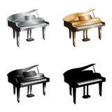 Piano_set Photo libre de droits
