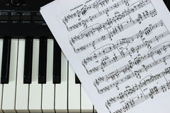 Piano sheet Royalty Free Stock Images