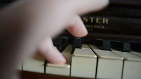 Piano shot close-up stock video footage