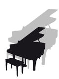 Piano in silhouette Stock Photography