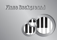 Piano and silver circle background Stock Photo