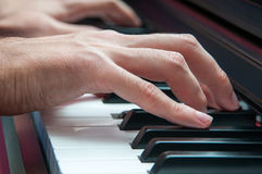 Piano singer Royalty Free Stock Images