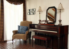 Piano in Sitting Room Royalty Free Stock Photography