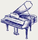 Piano sketch. Doodle style. Vector Royalty Free Stock Photos