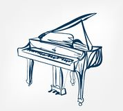 Piano sketch line  design royalty free illustration