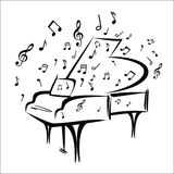 Piano sketch Royalty Free Stock Images