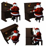 piano som leker santa Royaltyfri Fotografi