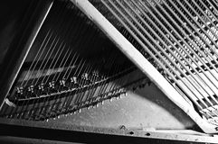 Piano soundboard. With stings and sounding felt Royalty Free Stock Images