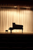 Piano on the stage royalty free stock images