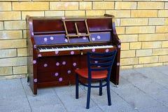 Piano on the street, Bath, UK Royalty Free Stock Photo