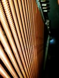 Strings. Piano strings stock image