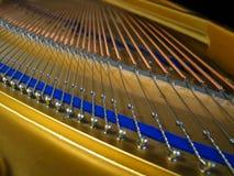 Piano strings. Closeup of piano strings Stock Image