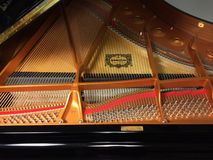 Piano strings Stock Photos