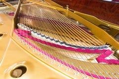 Piano strings. Close-up photo. Stock Image
