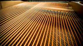 Piano strings Royalty Free Stock Images
