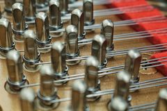 Piano Strings. Detail of The Piano Strings Royalty Free Stock Image