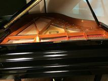 Piano strings Stock Images