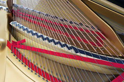 Piano Strings and Harp Stock Images