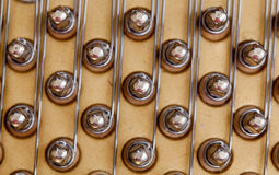 Piano strings in macro Stock Photo