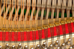 Piano strings in macro Stock Photography