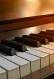 Piano in sunset Stock Image