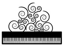 Piano with swooshes vector Stock Photo
