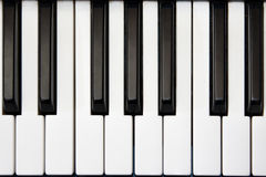 Piano or synthesizer keyboard from above Stock Photo