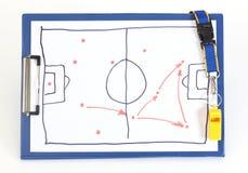 Piano tattico di calcio Fotografia Stock Libera da Diritti
