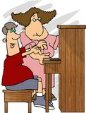 Piano Teacher. This illustration that I created depicts a woman teaching a student to play the piano Royalty Free Stock Photos