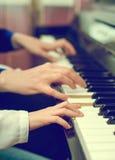Piano teaching. Stock Image
