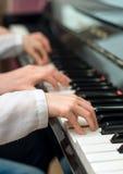 Piano teaching. Royalty Free Stock Image